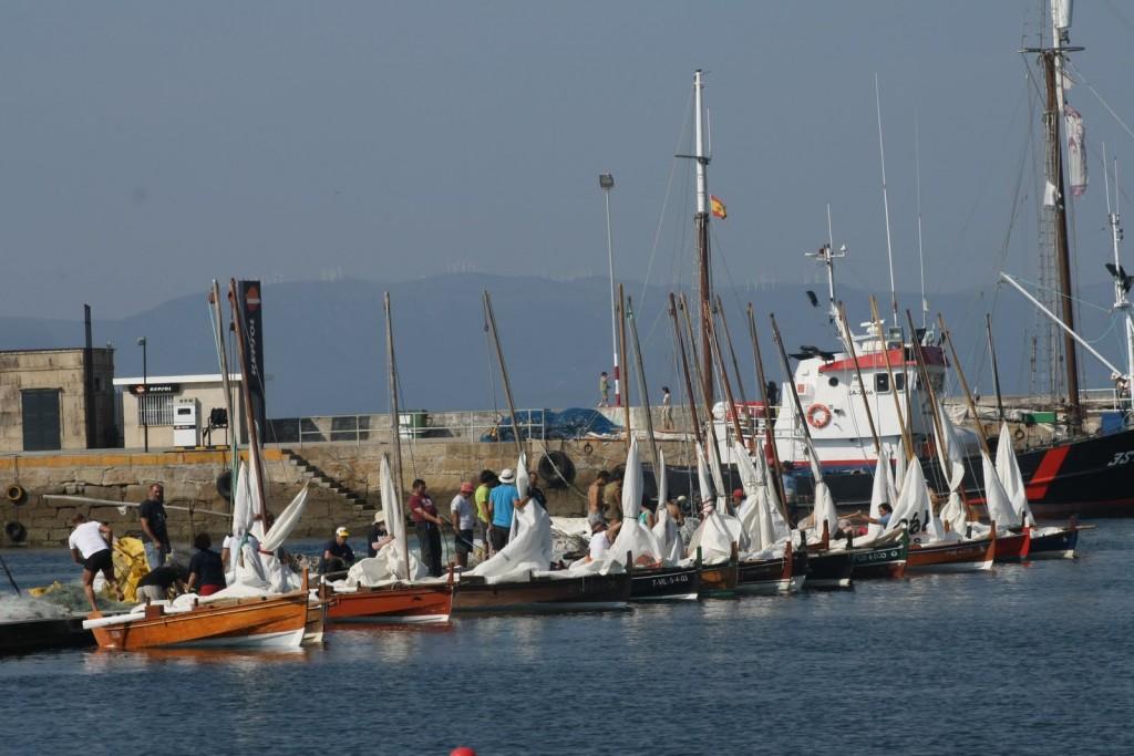 Imaxe previa á saída da Regata do Marisco de 2011 (fotografía de Alejandro Agrelo).