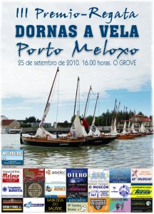 Cartaz da III Regata do Porto de Meloxo.