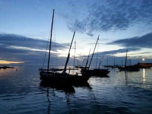 Barcos en Moreiras, na xuntanza de 2014.