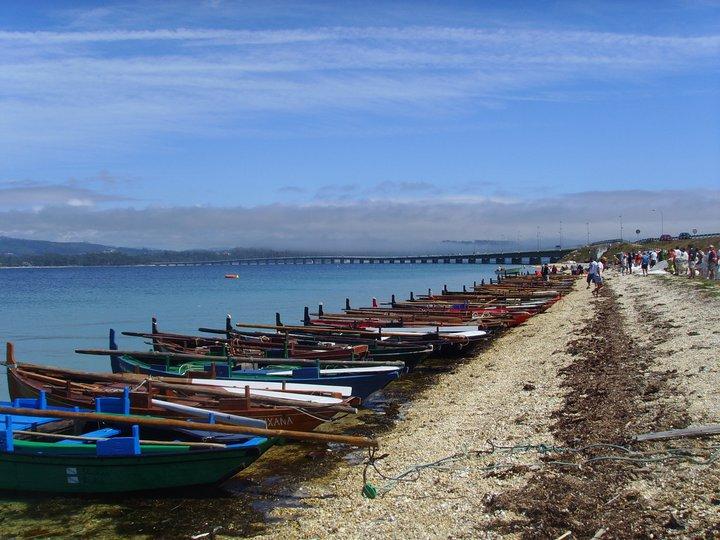 Imaxe previa á saída da Regata do Bao (Illa de Arousa) de 2011 (fotografía de Xan Caneda).